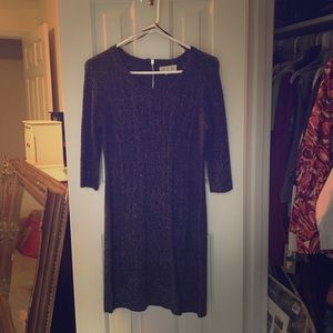 Pink Rose Exposed Zipper Cabled Sweater Dress